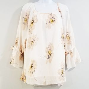 Entro Small Women's White Boho Blouse
